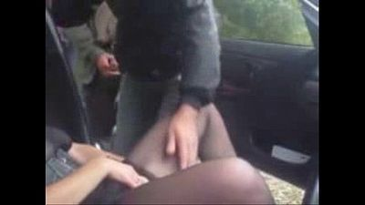 Horny slut in car having fun with strangers - 1 min 3 sec