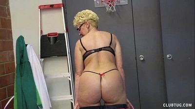 Blonde Milf Strokes A Young Cock - 4 min HD