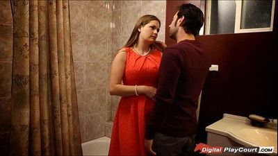 MILF Allison get pounded in the bathroom - 6 min