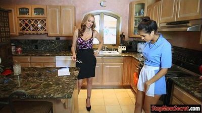 Hot maid Abby Lee Brazil 3some with huge hooters stepmom - 6 min