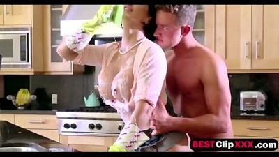 Stepmom Shay Fox fucks and sucks cock her stepson for that he not cum anywhere i - 2 min