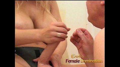Busty milf dominatrix humiliates her slave with some hardcore pegging-6 - 8 min