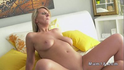 Natural busty mature sucks and fucks in bed - 10 min HD