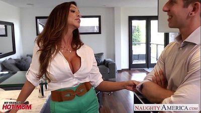 Busty mom Ariella Ferrera gets fucked and facialized - 8 min HD