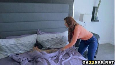 Housewife and a stepmom Syren bangs with three stepsons - 7 min