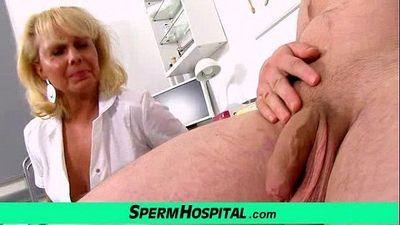 A boy gets handjob healthcare from dirty milf doctor Koko - 6 min