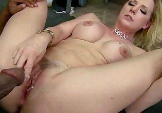 White milf riding a black cock 2