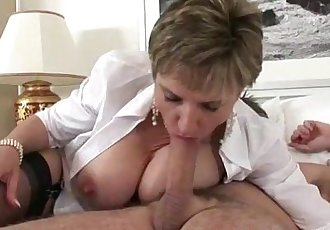 Sexy mature Lady Sonia in stockings - 5 min