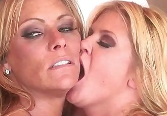 HumiliatedMilfsFemdom Debi Diamond Fucks Ginger Lynn With Her FootHD