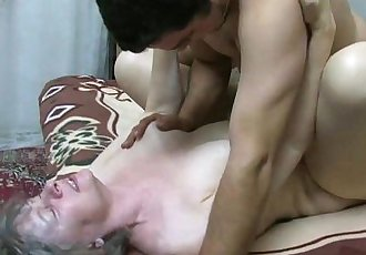 OldNanny Granny sucking dick and fucking hard - 8 min HD