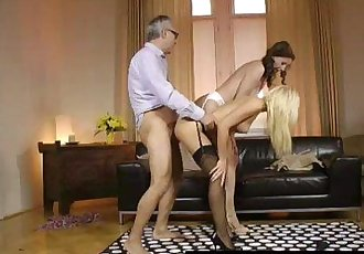 British MILF Lara Latex fucked hard in FFM threesome