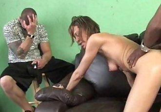 Son Sees Hardcore Interracial - 3 min