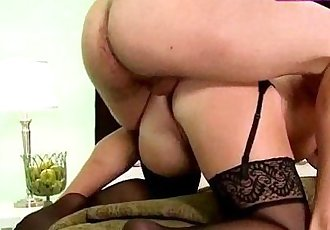 Blonde 45yo milf in hot lingerie anal
