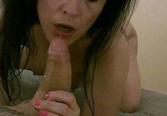 Homemade video of the spanish milf Montse Swinger doing an amazing blowjobHD+