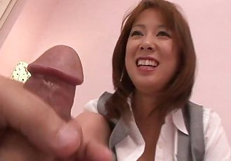 Mature asian sucking dick before plowed with cock - 6 min