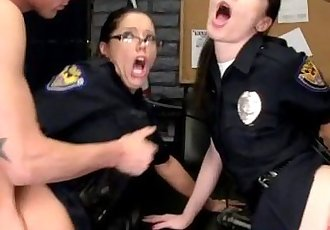 CFNM police milfs licked and fucked