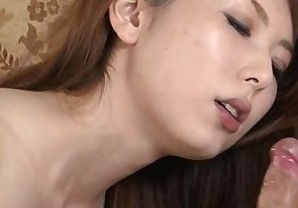 Mature asian on her knees sucking cock with pleasure - 6 min