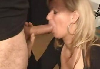 Hungarian hot milf casting blowjob