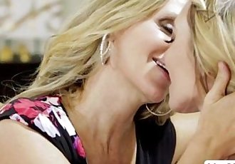 Attractive lesbians Julia and Molly licking each others wet pussy