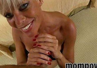 hot blonde milf fucks for facial - 6 min