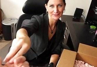 Sexy Milf Handjob At The Office
