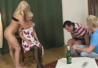 My GF gets involved into fucking with my crazy parents - 6 min