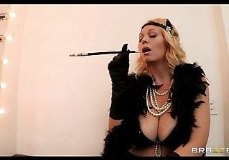 Busty blonde burlesque dancer Charlee Chase fucks a fanHD