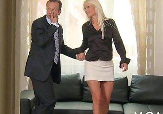 MOM Blonde MILF gets fucked hardHD