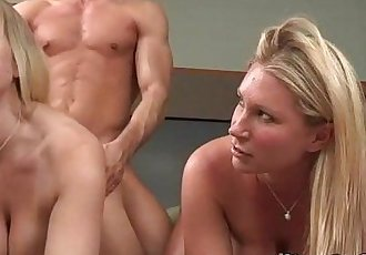 Both blondes loved getting fucked doggystyle by the boyfriend