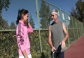 Young whore fucks tennis coach - 4 min