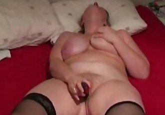 Very Intense Orgasm with my Red Dildo - 7 min