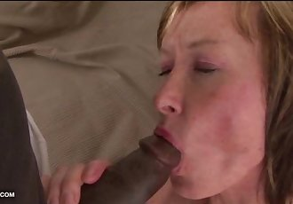 Grandma likes to get her pussy fucked by black men