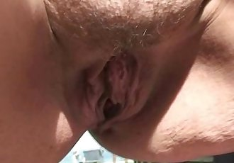 He fucks old bitch in public place
