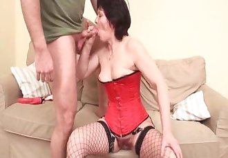 Mature whore rides big dick