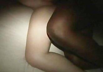 Black cock fucks me hard cuck hubby rubs my tits
