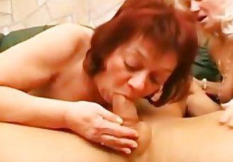 Horny Mature Honeys Share A Cock