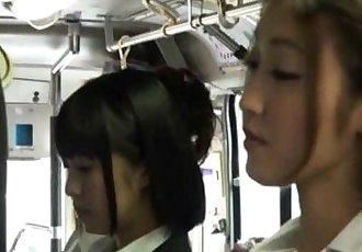 Asian lesbians in bus - 15 min