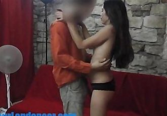 Asian teen does with lapdance for a stranger - 6 min