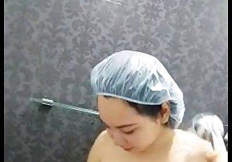 电话 129 摄像机 泰国 女朋友 淋浴 - 55 sec