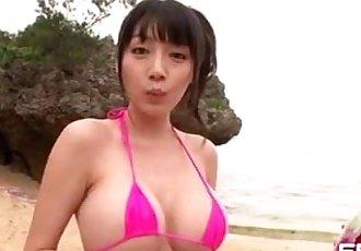 豐滿 亞洲 女孩 去 要 的 海灘 與 她的 新的 男朋友 wh - 6 min