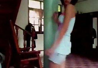 泰國 青少年 跳舞 在 家 - 10 min