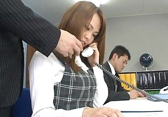 Asian office lady Saki squirting as the fellas stimulate her - 54 sec