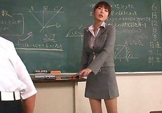 Teacher taking extra interest in couple of her students - 1 min 0 sec