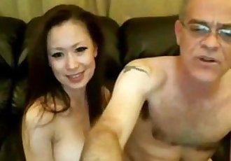 舊 人 和 中國 女孩 上 網絡攝像頭 - 19 min