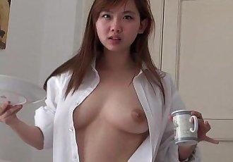 完美的 可愛的 樂趣 亞洲 喲 青少年 性愛 在 家 - 2 min