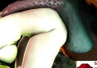 Gameplay - Busty elf fucked by big dick troll monster【FREEHGAME.COM】 - 6 min