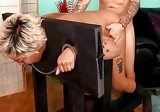 Blasian gets a Deepthroat & anal wreckage on a bondage device 10 min 720p