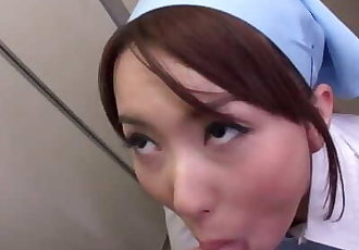 Japanese maid, Yui Hatano is sucking cock, uncensored