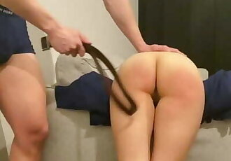 Naughty Schoolgirl Gets Spanked for Skipping Class