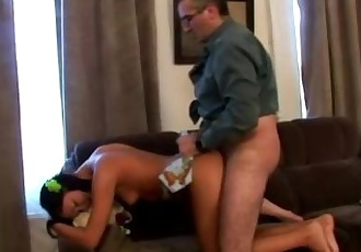 Tricky Old Teacher - Innocent young chick